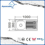 의 위 반대 스테인리스 Moduled 부엌 개수대 (ACS-10050A)