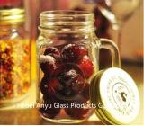Metallkappen-Maurer-Glas mit Griff