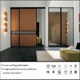 Garde-robe en bois de porte coulissante de qualité (FY876)