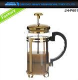 en la prensa de cristal de lujo del francés del crisol del fabricante de café de la venta