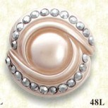 Poliestere Resin Button per Fashion Lady (H-1847)