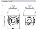 Камера купола скорости CCTV цифров обеспеченностью напольная PTZ Hdcvi Dahua 4MP 30X видео- (SD6C430I-HC)
