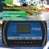 Contrôleur solaire 12V/24V de double bouton avec l'écran LCD
