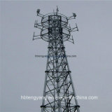 35m Galvanized Triangular Lattice Steel Telecom Tower