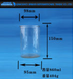 De duidelijke Houder van de Kaars van de Cilinder van de Container van het Glas met Decoratie