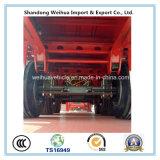 12의 강선전도 자물쇠를 가진 중국 40FT 콘테이너 트레일러 평상형 트레일러 트레일러