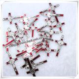 Croci religiose cattoliche del metallo dei pendenti della traversa della collana (IO-ap181)