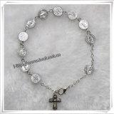 La resina Rosa borda i braccialetti del rosario/il braccialetto rosario di religione (IO-CB120)