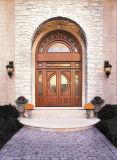 Portas da rua clássicas superiores do ferro feito do projeto do arco com travessões