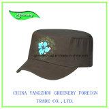 La impresión de flores de color marrón promocional Gorra militar