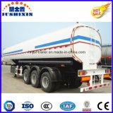 3 reboque de serviço público do caminhão de petroleiro do fuelóleo do aço de carbono do eixo 50cbm