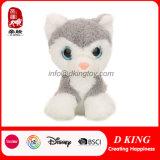2017 het Nieuwe Zachte Stuk speelgoed van de Kat van de Pluche van het Stuk speelgoed van de Dieren van het Ontwerp Leuke Grote Oog Gevulde