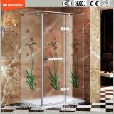 stampa del Silkscreen di 3-19mm/incissione all'acquaforte acida/vetro temperato del reticolo/glassato sicurezza per la casa, stanza da bagno dell'hotel/acquazzone/schermo con il certificato di SGCC/Ce&CCC&ISO