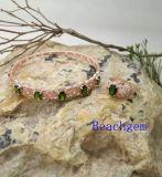 Tourmaline ювелирных изделий Устанавливать-Естественный в стерлинговом серебре (S3332)