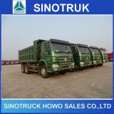 10 autocarro a cassone dello scaricatore del deposito della rotella 6X4 HOWO