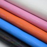 円デザインによって浮彫りにされる多彩な人工的なPUの革装飾的な包装の革