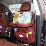 PUの革シートバック車のオルガナイザー、子供のためのシートバックの蹴りの保護装置