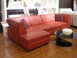 Jeux en cuir faisants le coin de sofa de section