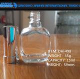 botella de cristal transparente de lujo del polaco de clavo 9ml-15ml con el casquillo