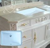 Cupcの証明書の長方形のUndermountの陶磁器の浴室の流し(SN017)