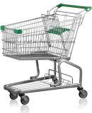 Chariot en acier galvanisé de fruit de chariot à caddie de supermarché