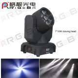 7PCS 10W LEDs brancos Beam Moving Head Light