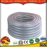 Manguito reforzado fibra hidráulica de alta presión plástica del PVC