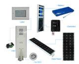 12 horários laborais todos em uma luz de rua solar Integrated 5W-100W da lâmpada do diodo emissor de luz com Ce RoHS IP65 do sensor de movimento