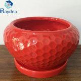 Vaso de cerâmica branca para decoração e decoração de jardim
