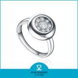 2015 Nuevo Pulido anillo plata ventas en línea (I-0432)