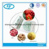 Sachets en plastique perforés de catégorie comestible sur le roulis