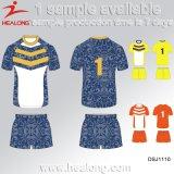 La fabbricazione di Healong Cina mette in mostra le uniformi di rugby degli uomini di stampa di Digitahi dell'attrezzo dei vestiti