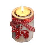 在庫のクリスマスの装飾の自然なカラーのための木の蝋燭ホールダー