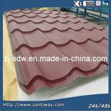 La CE y la certificación ISO la clásica de techos coloridos azulejos de techo de chapa metálica para la venta caliente