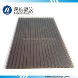 Hoja hueca plástica del policarbonato de la pared gemela para el invernadero de la agricultura