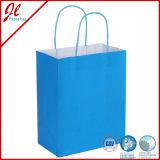 Bon marché faits à la machine qualifiés par bleu réutilisent des sacs en papier de Brown