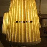 Tissu en satin blanc antidéflagrant américain et style américain et anneau circulaire en laiton E14 Bougies à LED Bougies en cuivre Chandelier
