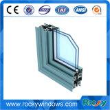 Porte en verre de glissement et bâti d'aluminium de guichet