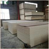 1220*2440 (4*8) madera contrachapada de la chapa del pino de la base del álamo/de la madera dura de 9/12/15/18m m con el pegamento de WBP para los muebles