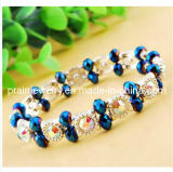 Pulsera de moda de primavera, mosaico de cristal joyas de cristal, cristal pulsera, pulsera de resina (PB-001).