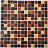 Mosaico di vetro giallo per la parete della priorità bassa