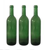 Frasco de vidro de vinho vermelho do Bordéus do verde Emerald