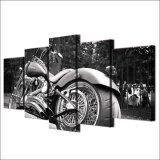 [هد] طبع 5 [بيس كنفس] فن درّاجة ناريّة درّاجة بيضاء [بلك] [بينتينغ كنفس] [برينت رووم] زخرفة
