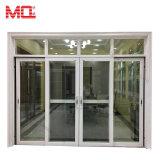 Porte coulissante en aluminium de couleur grise avec double vitrage Mqd-01