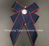 Последнюю версию мода для продажи Rhinestone Brooch Brooch для женщин костюмы темно-синий Bowknot Brooch (CB-02)