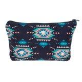 Il tipo portatile azteco delle donne Mint indiane compone la marca cosmetica dei sacchetti di trucco di corsa di memoria degli alloggiamento sacchetti filtro del Bag Maleta De Maquiagem dei sacchetti