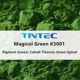 صبغ غيرعضويّ أخيرة 50 (كوبلت تيتانات اللون الأخضر سباينل) لأنّ بلاستيك