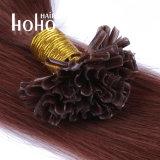 Colore rosso dell'onda diritta capelli umani di punta del chiodo da 18 pollici