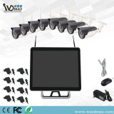 8chs 15 '' kits del monitor 2.0MP Warterproof IR WiFi NVR