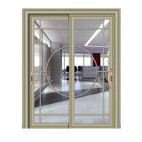 Un design moderne en verre trempé Double porte coulissante en aluminium